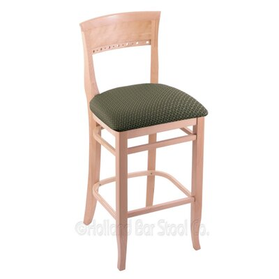 30 Bar Stool Finish: Natural, Upholstery: Axis Grove