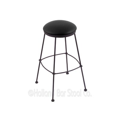 30 Bar Stool Upholstery: Black Vinyl