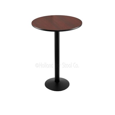 42 Pub Table Tabletop Size: 24 Dia, Finish: Black