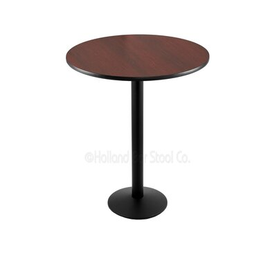 42 Pub Table Tabletop Size: 30 Dia, Finish: Black