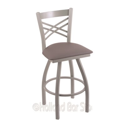Catalina 30 Swivel Bar Stool Finish: Anodized Nickel, Upholstery: Allante Medium Grey