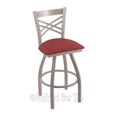 Catalina 36 Swivel Bar Stool Finish: Anodized Nickel, Upholstery: Allante Wine