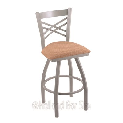 Catalina 25 Swivel Bar Stool Finish: Anodized Nickel, Upholstery: Axis Summer