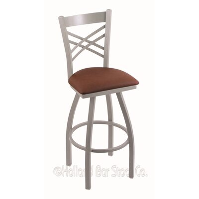 Catalina 36 Swivel Bar Stool Finish: Anodized Nickel, Upholstery: Rein Adobe
