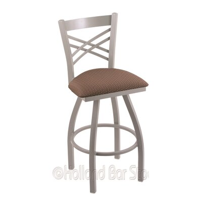 Catalina 36 Swivel Bar Stool Finish: Anodized Nickel, Upholstery: Axis Willow