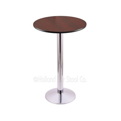 42 Pub Table Color: Chrome, Tabletop Size: 24 Dia