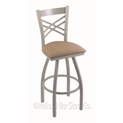 Catalina 36 Swivel Bar Stool Finish: Anodized Nickel, Upholstery: Rein Bay