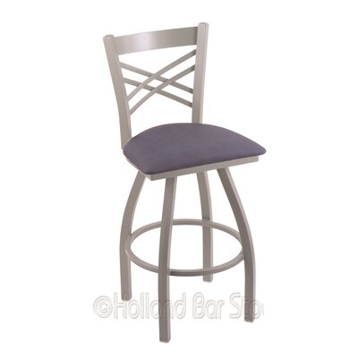 Catalina 30 Swivel Bar Stool Finish: Anodized Nickel, Upholstery: Rein Bay