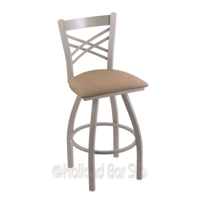 Catalina 36 Swivel Bar Stool Finish: Anodized Nickel, Upholstery: Rein Thatch