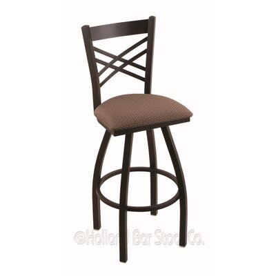 Catalina 30 Swivel Bar Stool Finish: Black Wrinkle, Upholstery: Axis Willow