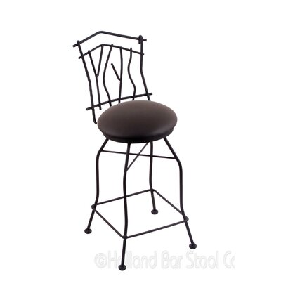 Aspen 25 Swivel Bar Stool Upholstery: Allante Espresso