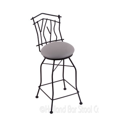 Aspen 30 Swivel Bar Stool Upholstery: Allante Medium Grey