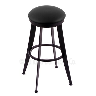 Laser 25 Swivel Bar Stool Upholstery: Black Vinyl