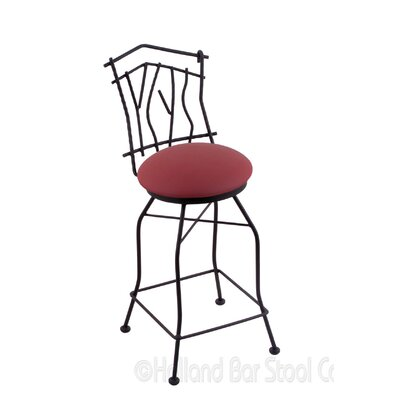 Aspen 30 inch Swivel Bar Stool Upholstery: Allante Wine