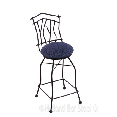 Aspen 30 Swivel Bar Stool Upholstery: Axis Denim