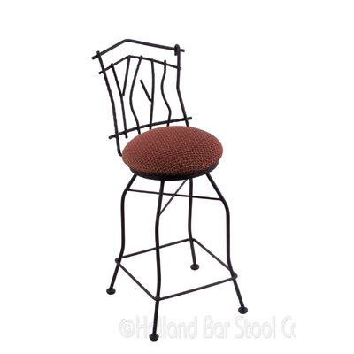 Aspen 25 Swivel Bar Stool Upholstery: Axis Paprika