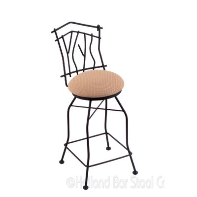 Aspen 25 Swivel Bar Stool Upholstery: Axis Summer