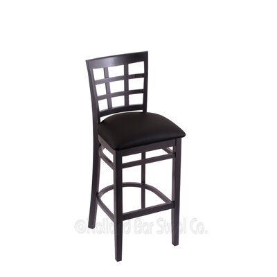 25 Bar Stool Finish: Black, Upholstery: Black Vinyl