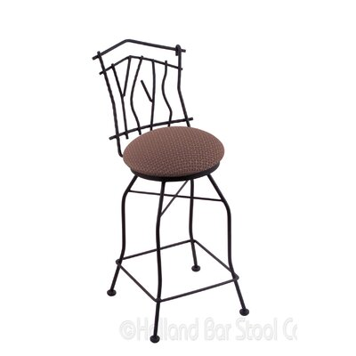 Aspen 30 inch Swivel Bar Stool Upholstery: Axis Willow