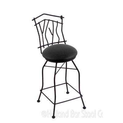 Aspen 30 Swivel Bar Stool Upholstery: Black Vinyl