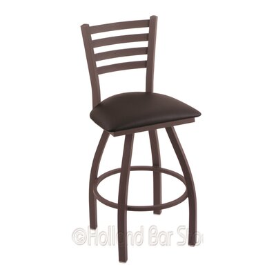 Jackie 30 Swivel Bar Stool Finish: Bronze, Upholstery: Allante Espresso