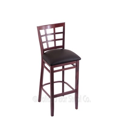30 Bar Stool Finish: Dark Cherry, Upholstery: Allante Espresso
