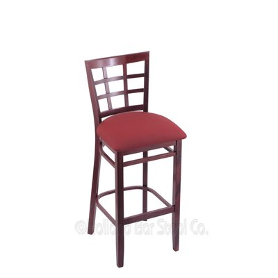 30 Bar Stool Finish: Dark Cherry, Upholstery: Allante Wine