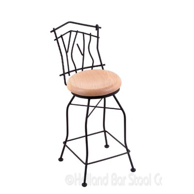 Aspen 25 Swivel Bar Stool Upholstery: Natural Oak