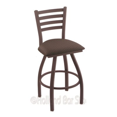 Jackie 25 Swivel Bar Stool Finish: Bronze, Upholstery: Axis Truffle