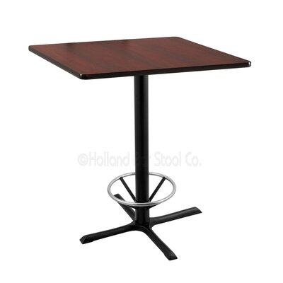 36 inch Pub Table Tabletop Size: 36 inch x 36 inch