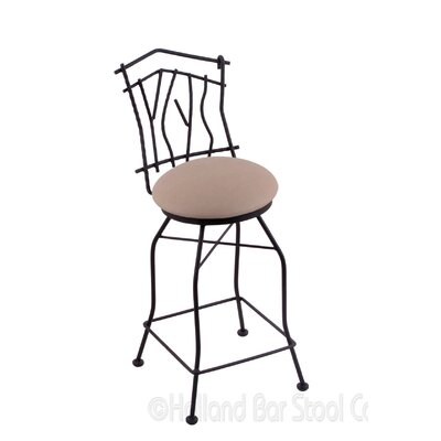 Aspen 25 Swivel Bar Stool Upholstery: Rein Thatch