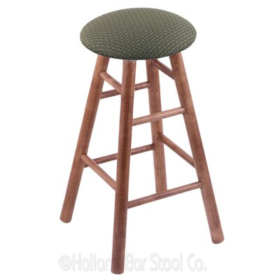 24 Swivel Bar Stool Finish: Medium Maple, Upholstery: Axis Grove
