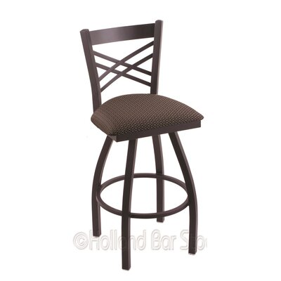 Catalina 36 Swivel Bar Stool Finish: Black Wrinkle, Upholstery: Axis Truffle