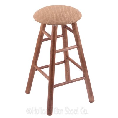 24 Swivel Bar Stool Finish: Medium Maple, Upholstery: Axis Summer