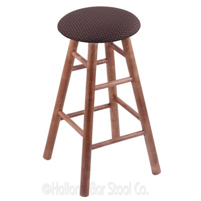 36 Swivel Bar Stool Finish: Medium Maple, Upholstery: Axis Truffle