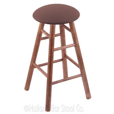 24 Swivel Bar Stool Finish: Medium Maple, Upholstery: Axis Willow