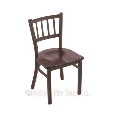 Contessa Solid Wood Dining Chair Base Finish: Bronze, Upholstery: Dark Cherry Maple
