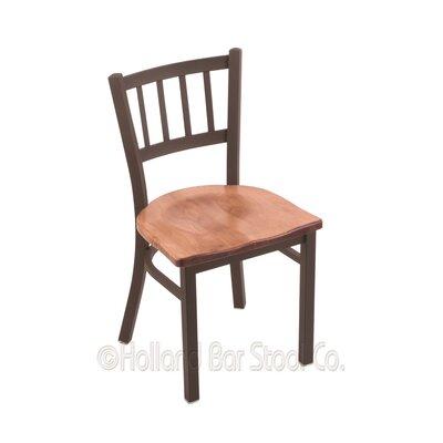 Contessa Side Chair Base Finish: Bronze, Upholstery: Medium Maple