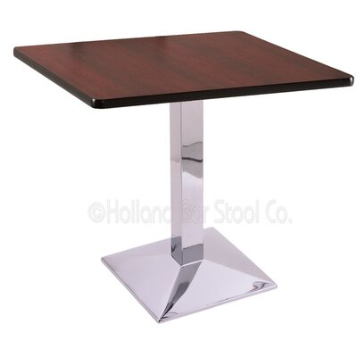 30 Pub Table Finish: Chrome, Tabletop Size: 30 x 30