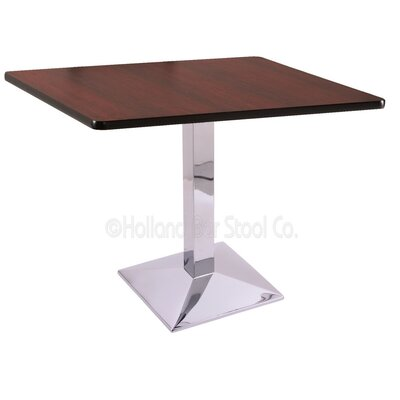 30 Pub Table Finish: Chrome, Tabletop Size: 36 x 36