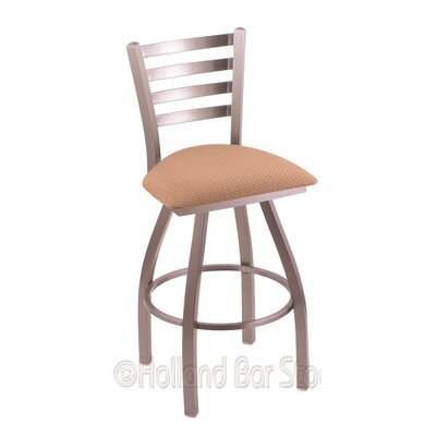 Jackie 25 Swivel Bar Stool Finish: Stainless, Upholstery: Axis Summer