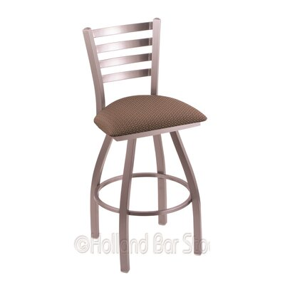 Jackie 25 Swivel Bar Stool Upholstery: Axis Willow, Finish: Stainless