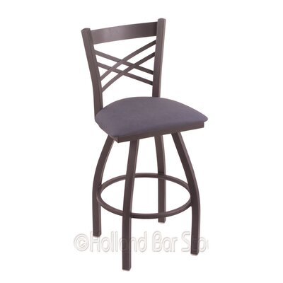 Catalina 30 Swivel Bar Stool Finish: Pewter, Upholstery: Rein Bay
