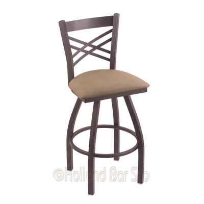 Catalina 30 Swivel Bar Stool Finish: Pewter, Upholstery: Rein Thatch