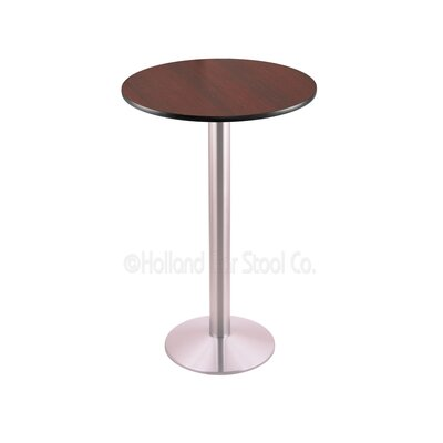 42 Pub Table Finish: Stainless, Tabletop Size: 24 Dia