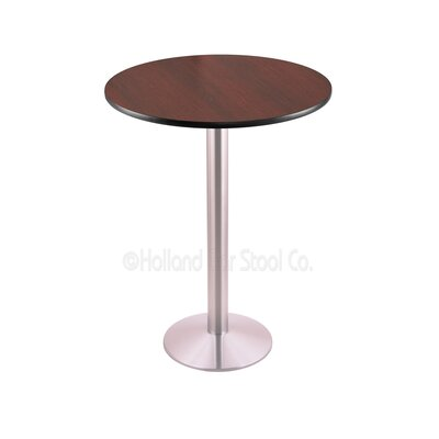 42 Pub Table Finish: Stainless, Tabletop Size: 30 Dia