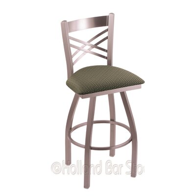 Catalina 25 inch Swivel Bar Stool Upholstery: Axis Grove, Finish: Stainless