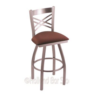 Catalina 25 Swivel Bar Stool Upholstery: Axis Paprika, Finish: Stainless