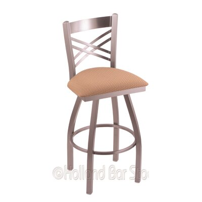 Catalina 30 inch Swivel Bar Stool Upholstery: Axis Summer, Finish: Stainless