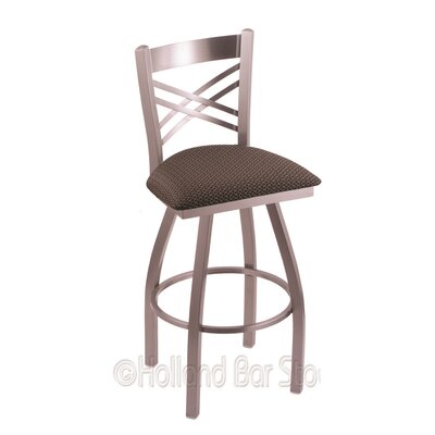 Catalina 36 Swivel Bar Stool Upholstery: Axis Truffle, Finish: Stainless